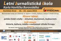 Tři desítky mladých lidí ze šesti zemí míří na Vysočinu  na jedenáctý ročník letní žurnalistické školy